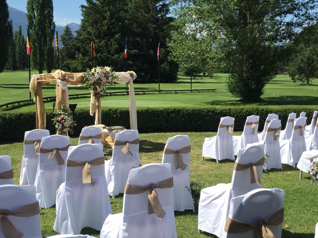 cerimònia casaments Exterior hotel chalet golf