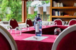 Sala-chimenea-reuniones-empresa-Hotel-Xalet-del-golf