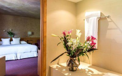 habitacion superior hotel chalet golf- baño-Cerdanya-Puigcerda